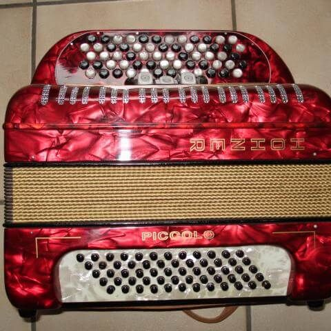 Hohner Piccolo, rot, 2-chörig, ohne Koffer, Occasion